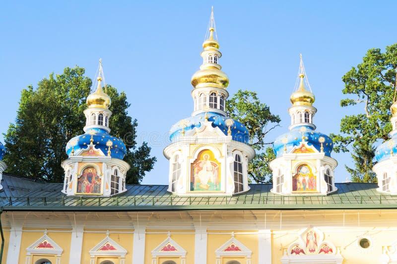 Holy Dormition Pskov-Caves monastery stock photo