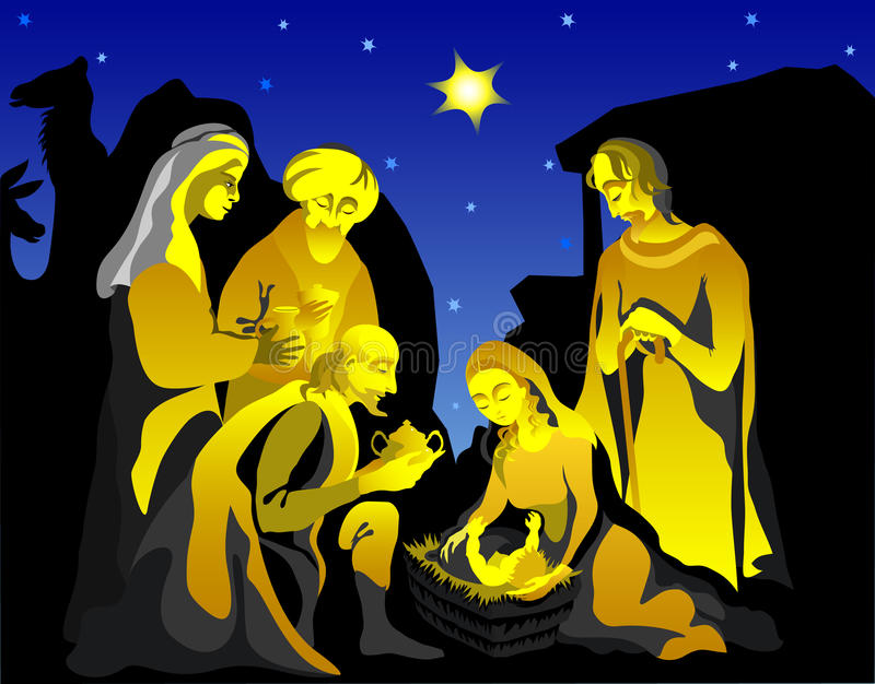 Download Holy Family stock illustration. Image of joseph, christmas - 11796307
