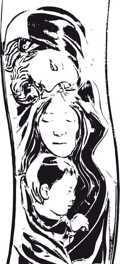 Download Holy Family stock illustration. Image of religiousm, xmas - 12015771