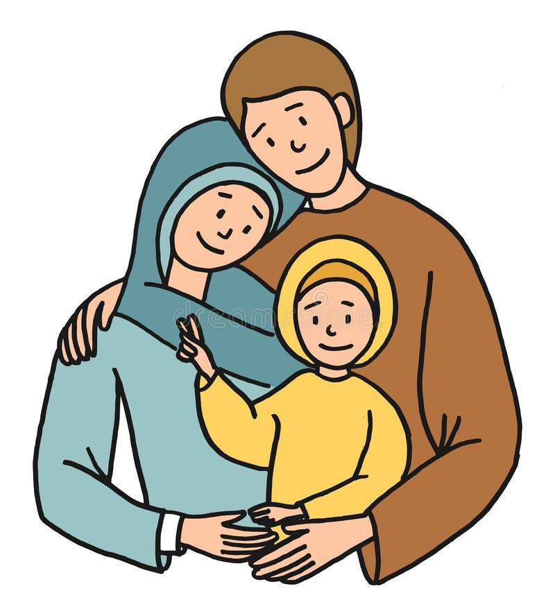 holy family illustration stock vector illustration of love 70743806 rh dreamstime com clipart holy family nativity holy family clipart