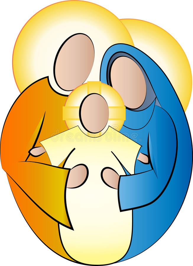 Holy Family Jesus Mary And Joseph Simple Abstract Stock ...