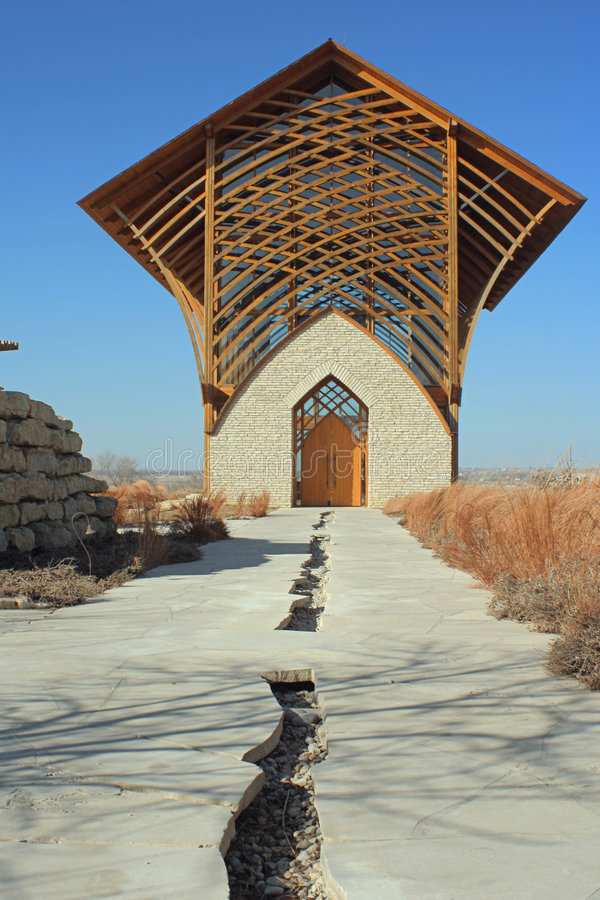 Holy Family Shrine, walkway stock image