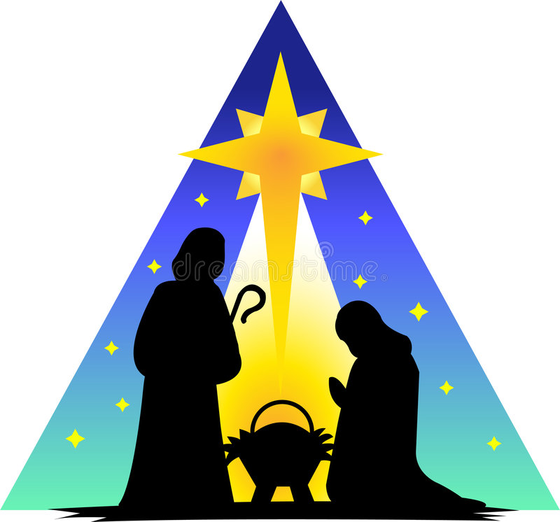Holy Family Silhouette/eps royalty free illustration