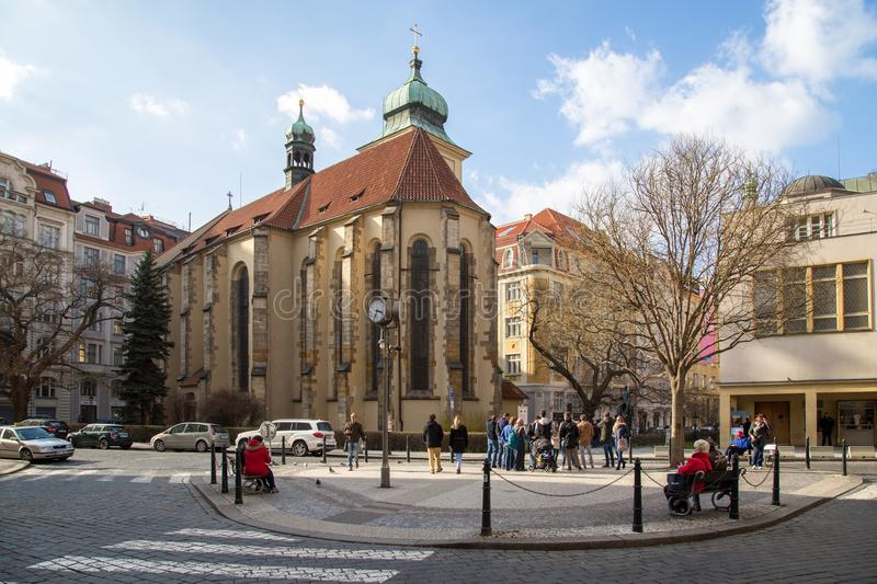 Holy Ghost Church, Prague royalty free stock photography