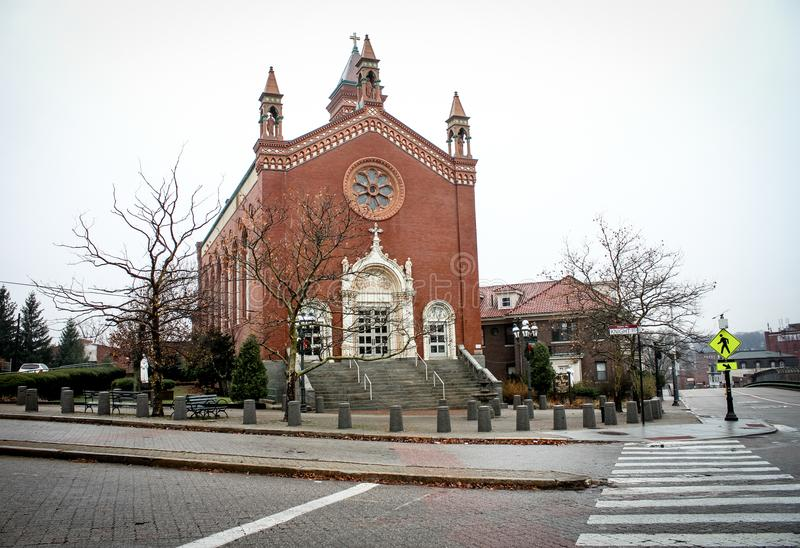 Holy Ghost Church, Providence, Rhode Island stock images