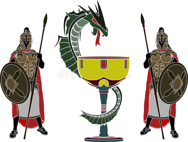 Download Holy grail and guardians stock vector. Illustration of ancient - 31380029