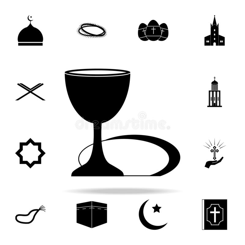 holy grail icon. Religion icons universal set for web and mobile stock illustration
