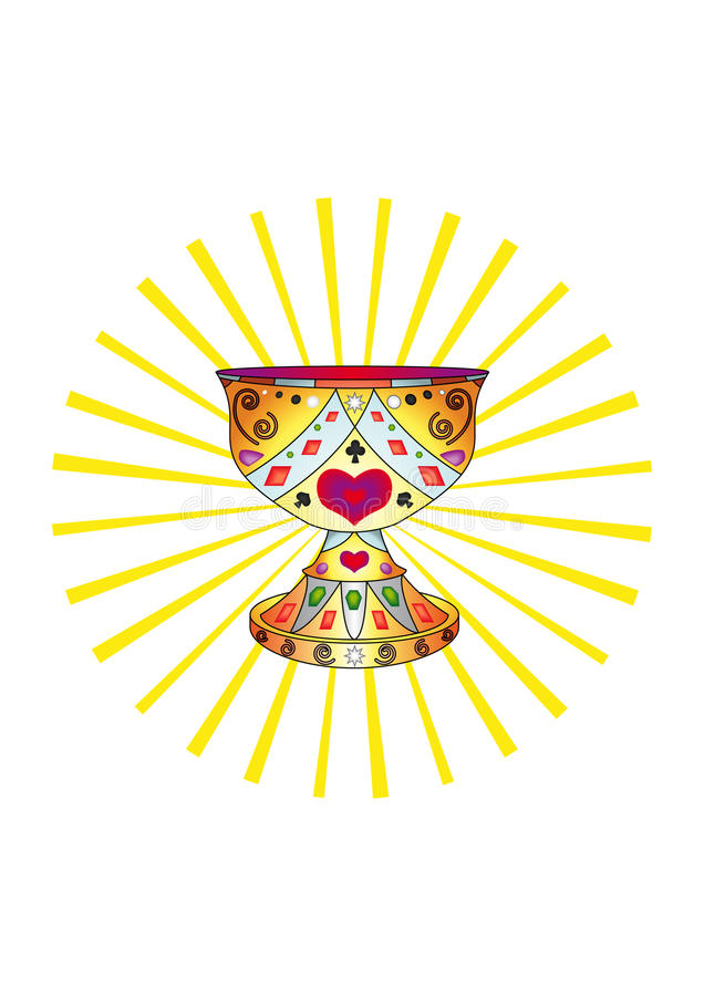 Download Holy Grail and the sun stock vector. Illustration of abstract - 12755703