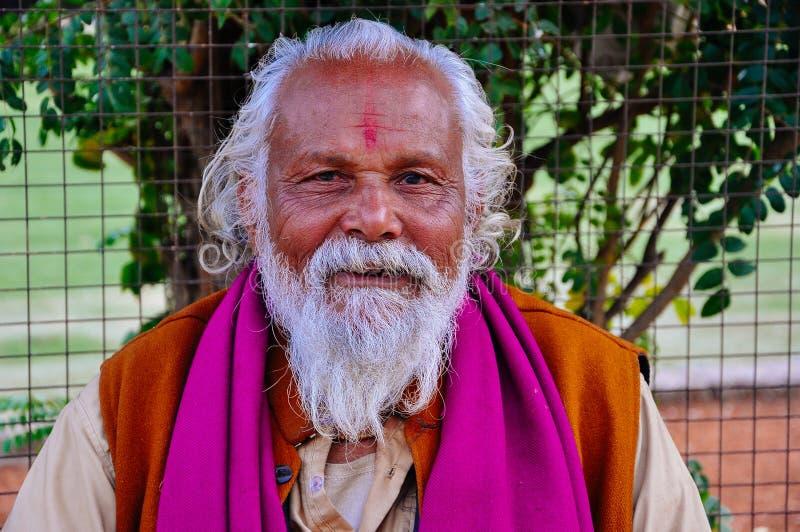 The holy guru of the Hanuman Temple, Jaipur, India. royalty free stock photo