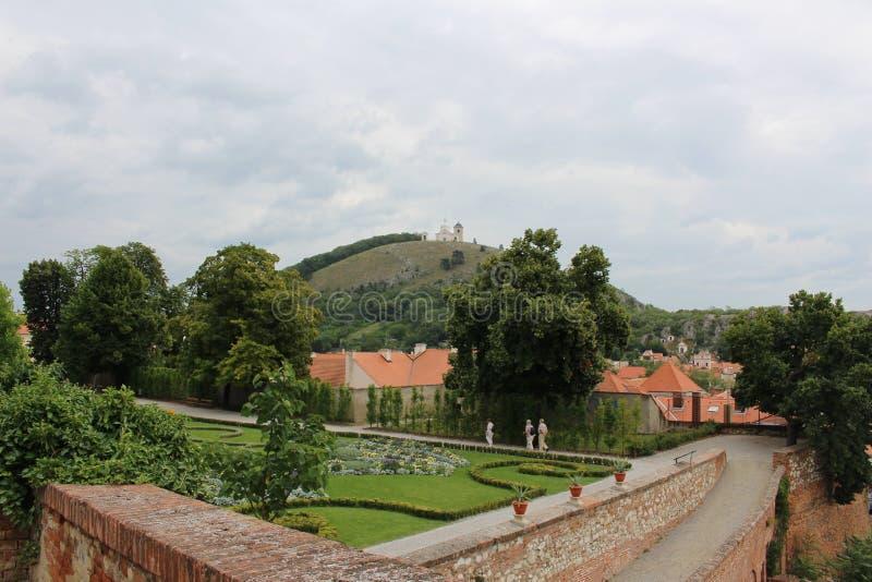 Holy Hill, Mikulov, Czech Republic royalty free stock photo