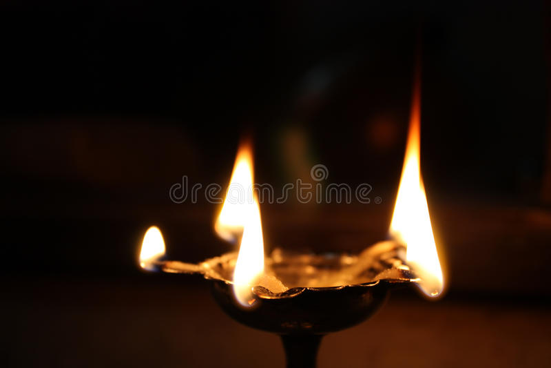 Holy Hindu Lamp Stock Image
