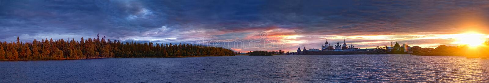 Holy Lake on sunset royalty free stock images