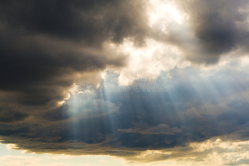 Holy light from above stock image