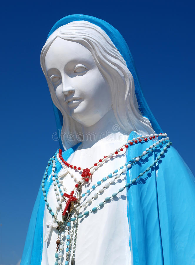 Holy Mary. Of the sea in Nettuno harbour, Italy stock images
