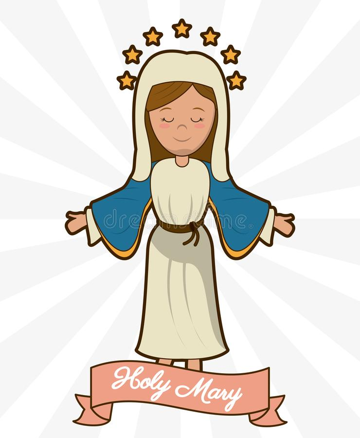 Holy mary ascension belief religion image royalty free illustration