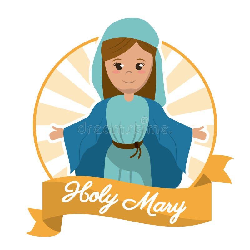 Holy mary christianity glory image stock illustration