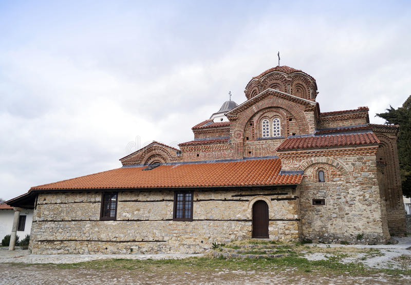 Holy Mary Peribleptos church. Build in 13th century is one of the oldest churches in the town of Ohrid, Macedonia stock photos