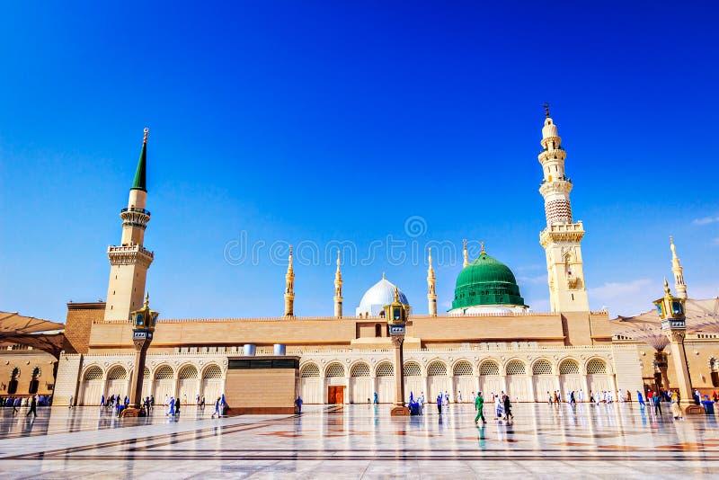 The Holy Masjid Madinah Beautiful view royalty free stock photography