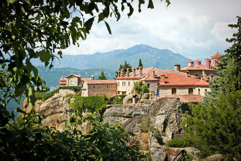 The Holy Monastery of Saint Stephen - Meteora Greece stock photography