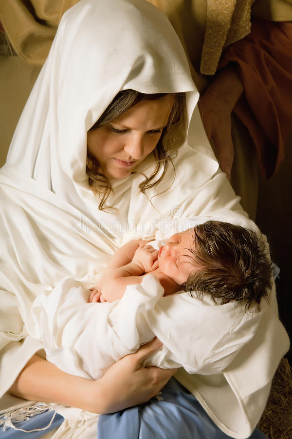 Holy mother with Christmas royalty free stock photography