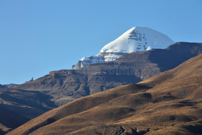 Holy Mount Kailash. In Tibet royalty free stock photography