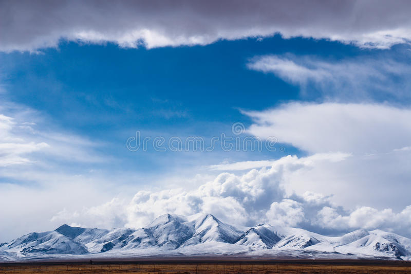 Holy mountain of tibet. This picture is about the holy mountain of tibet in china royalty free stock photos