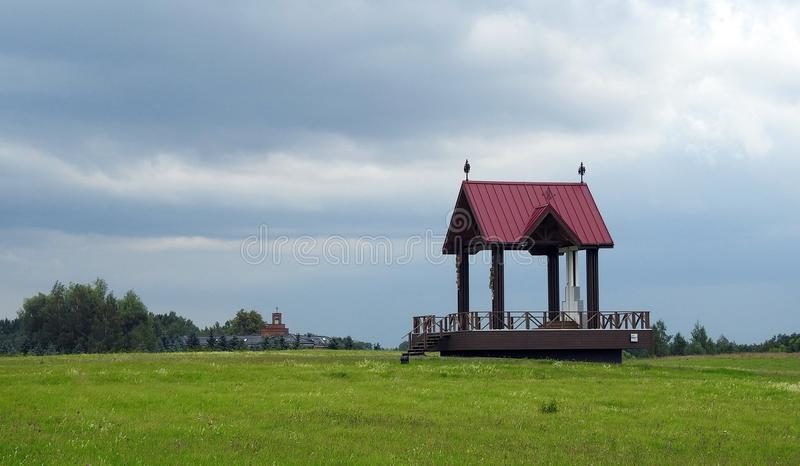 Holy place on Cross hill, Lithuania royalty free stock photos