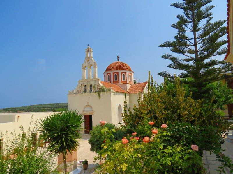 Holy places of Crete-Arsani monastery royalty free stock photography