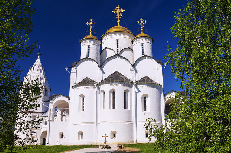 Holy Pokrovsky monastery in Suzdal, Golden Ring of Russia stock photo