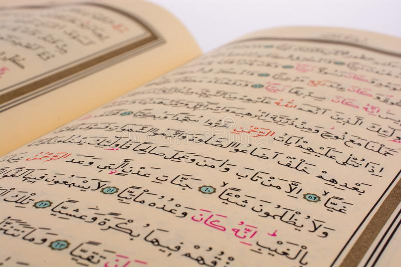 The Holy Quran. On a white background stock photo