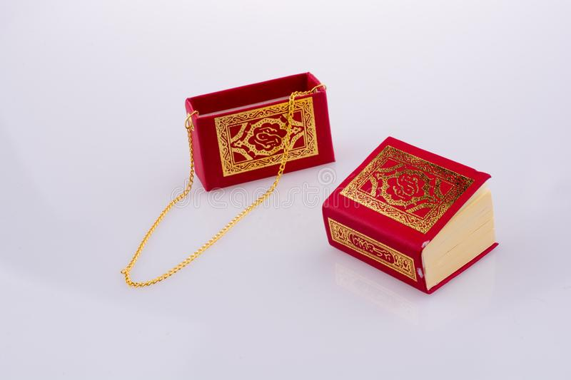 The Holy Quran. On a white background royalty free stock photos