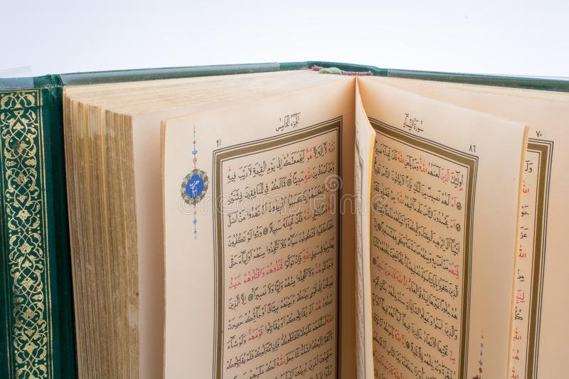 The Holy Quran. On a white background stock photos