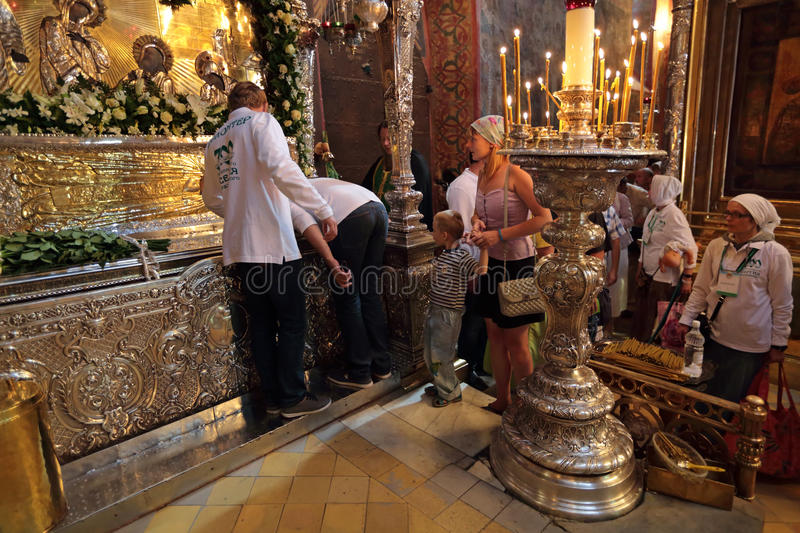 The Holy relics stock photo