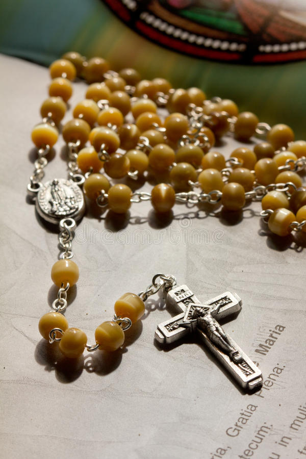 Download Holy rosary stock image. Image of book, silver, peace - 23413725