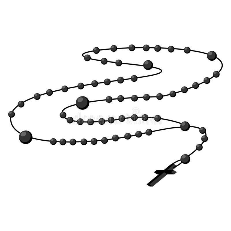 Free Holy Rosary Beads, Chaplet Icons Vector Royalty Free Stock Images - 187881179