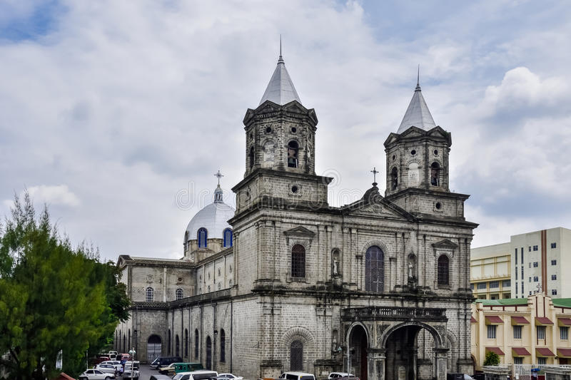 Holy Rosary Parish Church. The Holy Rosary Parish, formerly known as Santo Rosario Church, today fondly called by locals as & x22;Pisambang Maragul& x22; stands royalty free stock image