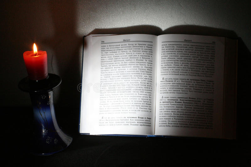 Download Holy Scriptures And Candle Stock Image - Image: 10437041