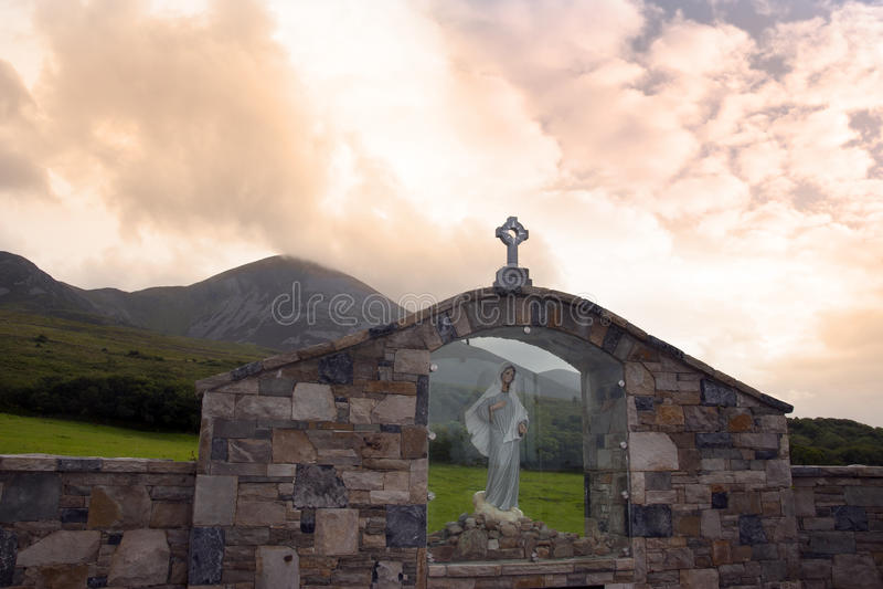 Download Holy Shrine At Croagh Patrick Stock Photo - Image of pilgrimage, saint: 46135844