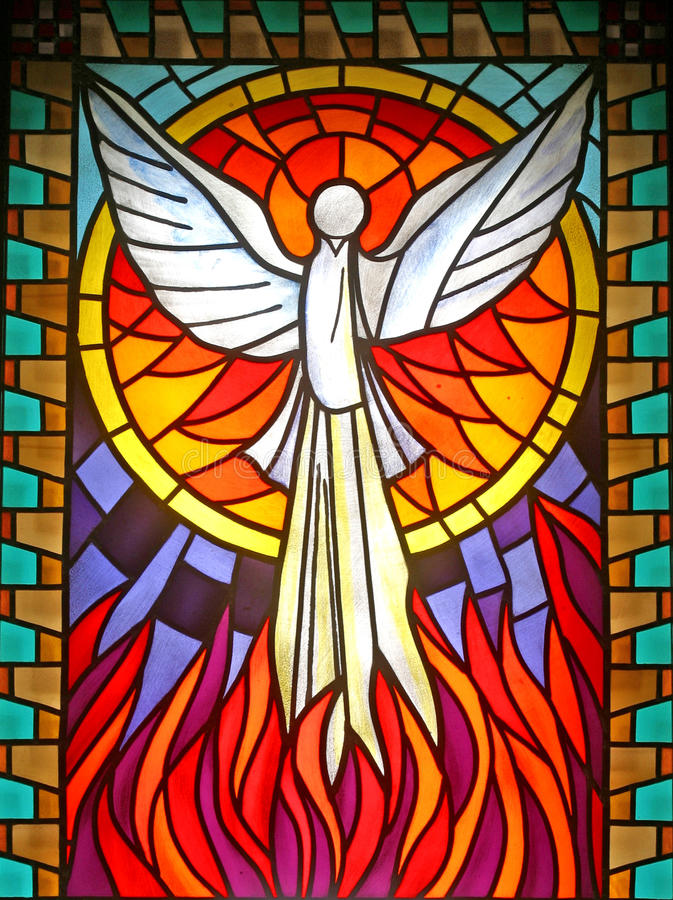 Holy Spirit. Stained glass, church window