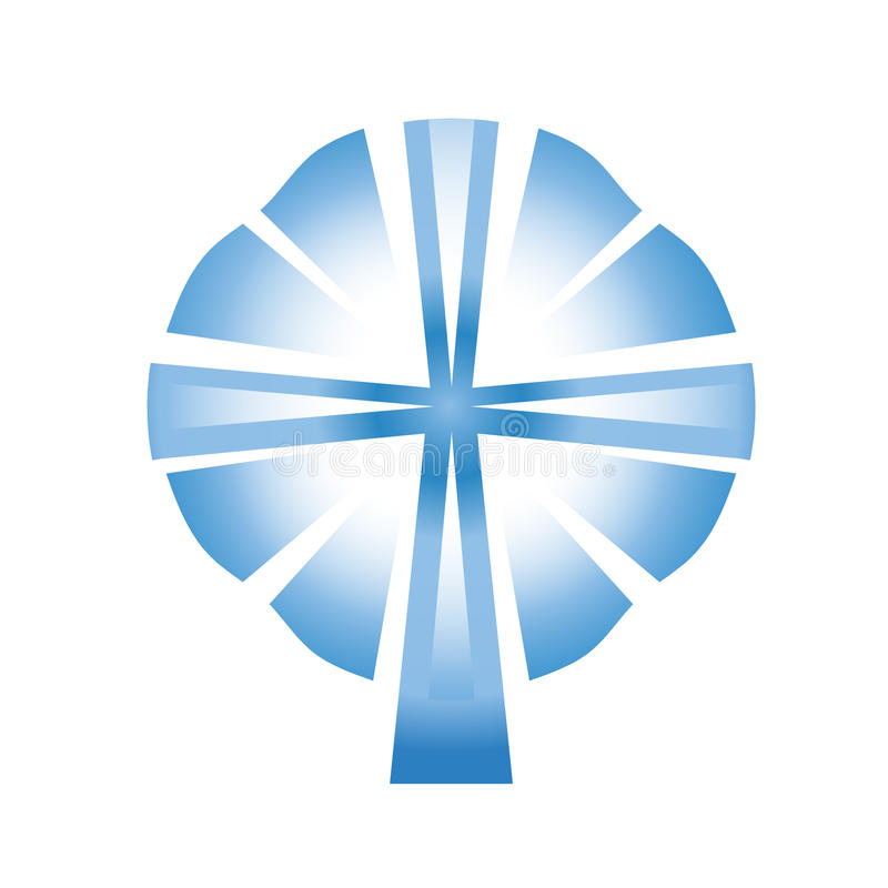 Holy spirit. With cross and rays vector illustration