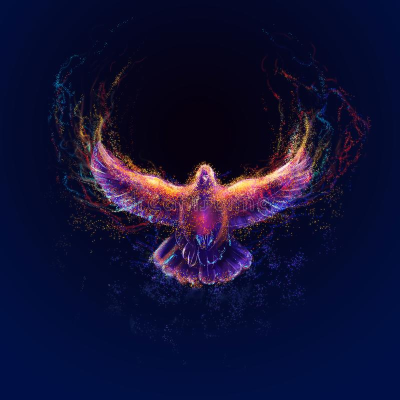 Holy spirit digital paintings - Illustration. Holy spirit, art, hand painting illustration, the holy spirit of a candle in the form of a dove royalty free illustration