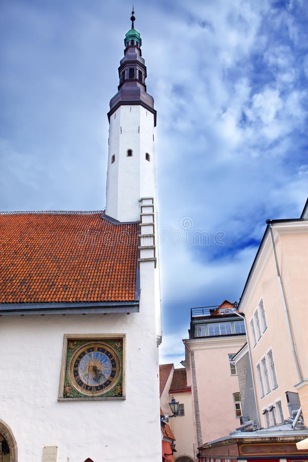 Download Holy Spirit Church And The Old Clock.Tallinn, Stock Image - Image: 25496651