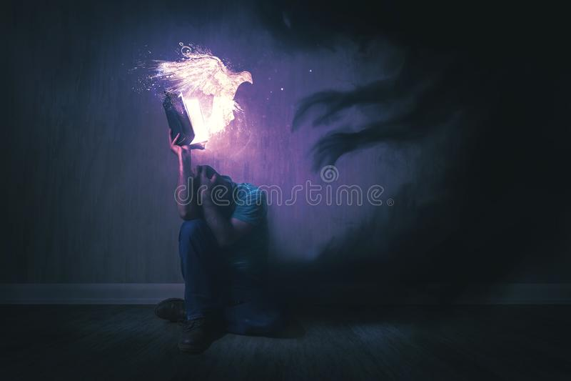 Download Holy Spirit and Darkness stock image. Image of scary - 106736555