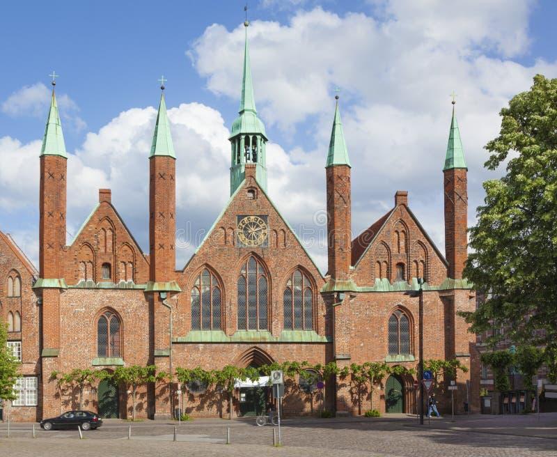 Holy Spirit Hospital At Lübeck, Germany. Heilig-Geist Hospital at Lubeck, Germany stock photo