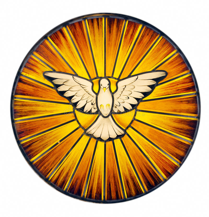 Holy Spirit Stained Glass royalty free stock photography