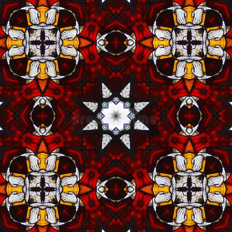 Holy stained glass kaleidoscope #2 stock photos