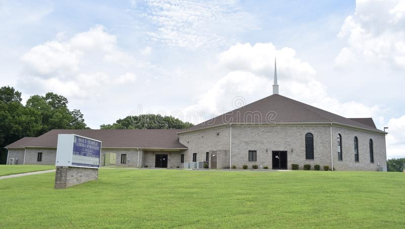 Holy Temple Cathedral of Deliverance Church Building, Memphis, Tennessee royalty free stock image