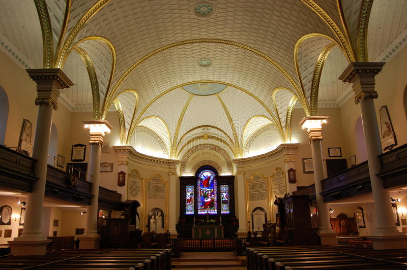 Holy Trinity Anglican Cathedral, Quebec City royalty free stock photos
