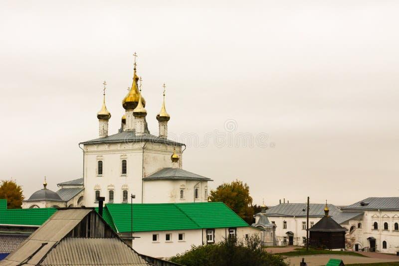 Holy Trinity Cathedral of St. Nichola`s Monastery Svyato Troitse Nikolsky Monastery. Gorokhovets. Vladimir oblast, Russia stock images