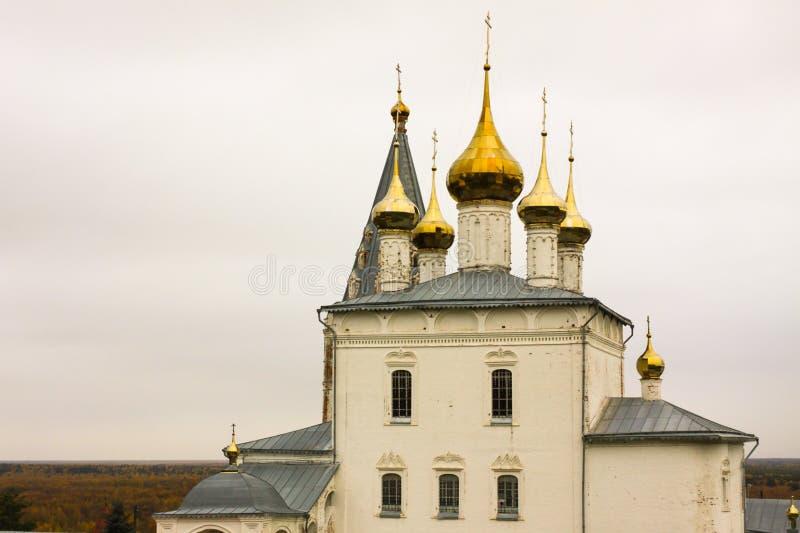 Holy Trinity Cathedral of St. Nichola`s Monastery Svyato Troitse Nikolsky Monastery. Gorokhovets. Vladimir oblast, Russia stock photo